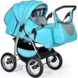 коляска Indigo Maximo, Ma 05  голубой + графит