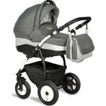 коляска Indigo Camila 2 в 1, Ca 11 графит + светло-серый узор