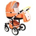 коляска Vikalex Grata 3 в 1 leather, оранжевая