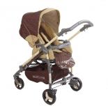 коляска Прогулочная коляска книжка Babylux Carita 4 колеса Led Коричневая