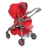 коляска Прогулочная коляска книжка Babylux Carita 4 колеса Led Красный