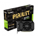 видеокарта GeForce Palit GeForce GTX 1050 Ti 1290Mhz PCI-E 3.0 4096Mb 7000Mhz 128 bit DVI HDMI (PA-GTX1050Ti StormX 4G)