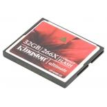 карта памяти Kingston Compact Flash Card 32GB Ultimate 266x w/Recovery s/w