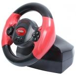 игровое устройство SVEN Speedy (Vibration Feedback, рулевое колесо, педали, 10кн, 4 поз.мини-джойстик, USB)