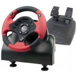 игровое устройство Dialog GW-10VR Sprinter 1 Vibration USB (Рулевое колесо+педали,12кн., 8 поз.перекл)