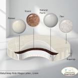 матрас для детской кроватки BabySleep Nido Magia Latex Linen 75*75 круглый