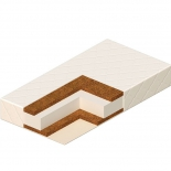 матрас для детской кроватки Vikalex Сорренто 120х60 см