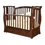 детская кроватка Красная Звезда Ярослава С551 Бабочка, шоколадная