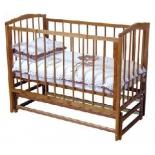 детская кроватка Красная Звезда Кристина С614, красно-коричневая