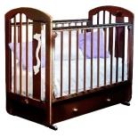 детская кроватка Красная Звезда С 719 Агата накладка-ростомер №11, темно - коричневая
