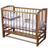 детская кроватка Красная Звезда Кристина C619, красно-коричневая