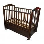 детская кроватка Красная Звезда Руслан (маятник), шоколад
