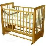 детская кроватка Красная Звезда С 700 Марина, медовая