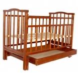 детская кроватка Агат Золушка-4, орех