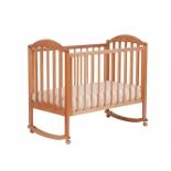 детская кроватка Кубаньлесстрой Лилия Люкс АБ 17.0, натуральный бук