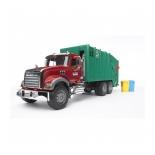 товар для детей Bruder Мусоровоз MACK (зелёный фургон, красная кабина)