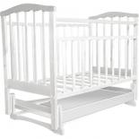детская кроватка Агат Золушка-4, белая