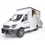 товар для детей Bruder Mercedes-Benz Sprinter фургон с лошадью