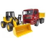 товар для детей Bruder Самосвал MAN с колёсным бульдозером FR 130