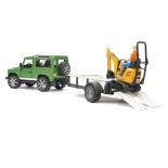 товар для детей Bruder Внедорожник Land Rover Defender c экскаватором 8010 CTS (28472)