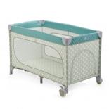 товар для детей Кровать-манеж  Happy Baby Martin cиняя