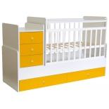 детская кроватка Фея 1100 Бело-солнечная