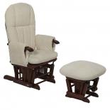 кресло-качалка складное Tutti Bambini Daisy GC35 Грецкий орех / крем