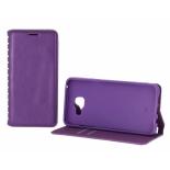 чехол для смартфона Book Case New для Samsung Galaxy A3 (2016) с визитницей фиолетовый