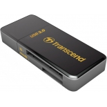 картридер Картридер Transcend RDF5, SD/microSD, USB 3.0, Черный
