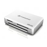 устройство для чтения карт памяти Картридер Transcend RDF8, all-in-1, USB 3.0, Белый