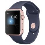 Умные часы Apple Watch Series 1 42 mm, розовое золото/синие
