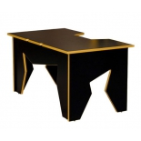 стол компьютерный Generic Comfort Gamer/N/Y (игровой), чёрный с жёлтым