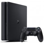 игровая приставка Sony PlayStation 4 Slim 1Tb (CUH-2008B) + контроллер Dualshock 4, черная