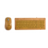 комплект Konoos Bambook-001 Brown USB, натуральный бамбук