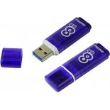 usb-флешка SmartBuy Glossy 8GB, темно-синяя