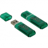 usb-флешка SmartBuy Glossy USB2.0 16Gb (RTL), зелёная