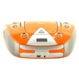 магнитола  BBK BX325U, оранжевая/серебро