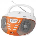 магнитола BBK BX193U, бело-оранжевая