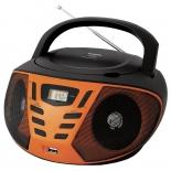 магнитола  BBK BX193U, черно-оранжевая