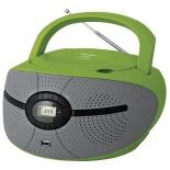 магнитола BBK BX195U, зелено-серая