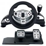 игровое устройство Dialog GW-14VR Cyber Pilot USB (Вибро, Рулевое колесо, педали,12кн.,4поз.перекл.,миниджойстик)