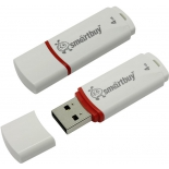 usb-флешка SmartBuy Crown 4GB, белая