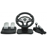 игровое устройство Dialog GW-301 Race Winner 2 USB (Вибро,Рулевое колесо,педали,рычаг перекл.скор+ручн.тормоз)