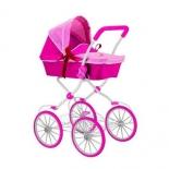 транспорт для кукол Кукольная коляска RT Фуксия, розовая
