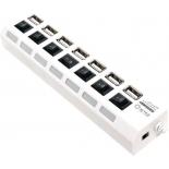 USB-концентратор 5bites HB27-203PWH, блок питания, белый