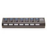 USB-концентратор 5bites HB37-303PBK, блок питания 2А, черный