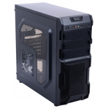 корпус ATX 3Cott 1816 без БП, черный, фильтр от пыли