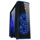корпус ATX 3Cott 3C-ATX901GBL Avalanche 800W, черный/синий