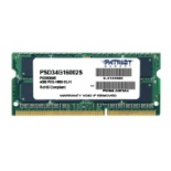модуль памяти DDR3 4Gb 1600MHz, Patriot PSD34G16002S RTL PC3-12800 SO-DIMM 204-pin