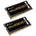 модуль памяти DDR4 2x8Gb 2133MHz, Corsair CMSO16GX4M2A2133C15 RTL PC4-17000 CL15 SO-DIMM 260-pin 1.2В